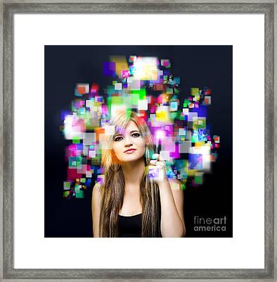 Social Media And Networking Framed Print by Jorgo Photography - Wall Art Gallery