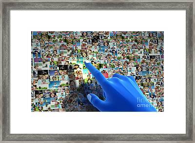 Social Media Network Framed Print