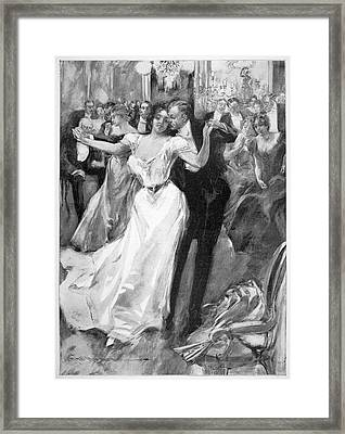Society Ball, C1900 Framed Print