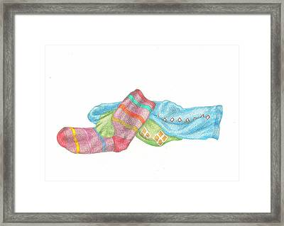 Socks 1 Framed Print by Lew Davis