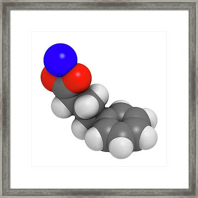 Sodium Phenylbutyrate Drug Molecule Framed Print