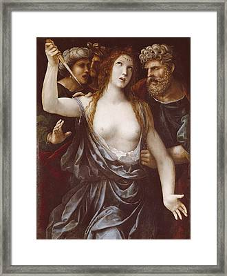 Sodoma, Giovanni Antonio Bazzi Framed Print by Everett