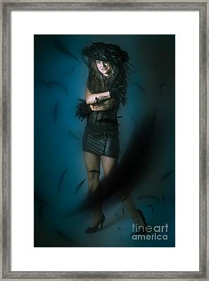 Soft Dark Beauty In Full Length Creative Fashion Framed Print by Jorgo Photography - Wall Art Gallery