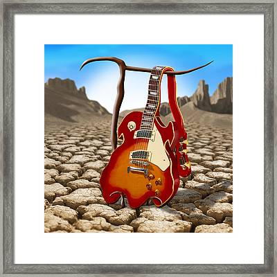 Soft Guitar II Framed Print by Mike McGlothlen