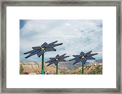 Solar Panel Flowers Framed Print