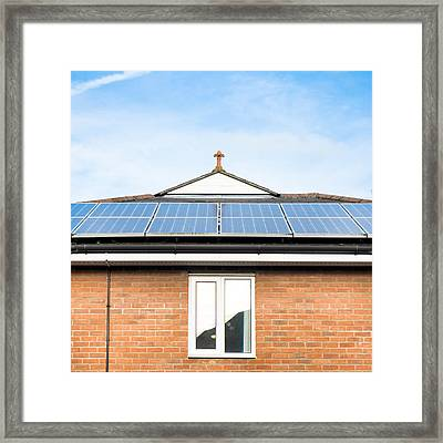 Solar Panels Framed Print by Tom Gowanlock