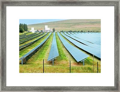 Solar Panels Framed Print