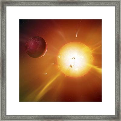 Solar System Formation, Artwork Framed Print by Science Photo Library
