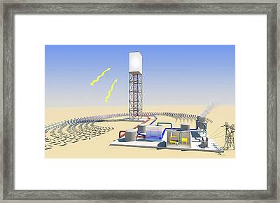 Solar Tower Electricity Framed Print