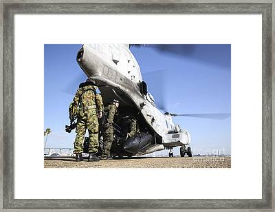 Soldiers With The Japan Ground Framed Print by Stocktrek Images