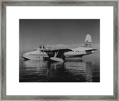 Solent Flying Boat Framed Print by Retro Images Archive