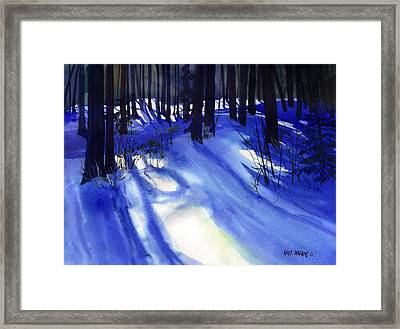 Solstice Shadows Framed Print