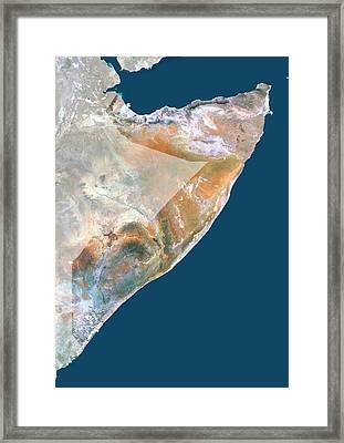 Somalia Framed Print by Planetobserver/science Photo Library