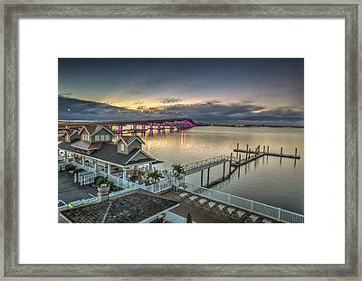 Somers Point Bridge Framed Print by Al Hurley