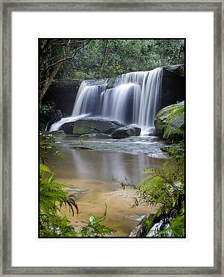 Somersby Falls Framed Print by Steve Caldwell