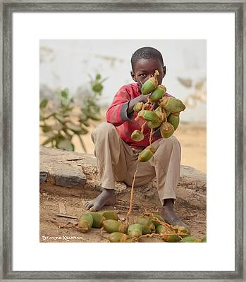 Framed Print featuring the photograph Somewhere Else On Goree Island  by Stwayne Keubrick