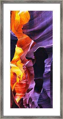 Framed Print featuring the photograph Somewhere In America Series - Antelope Canyon by Lilia D