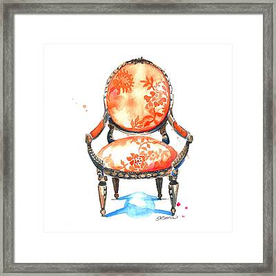 Sophia Chair Framed Print by Roleen  Senic
