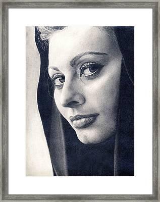 Sophia Loren Framed Print by Erin Mathis
