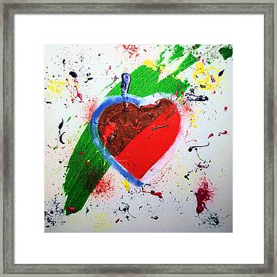 Sophie Framed Print by Artists With Autism Inc