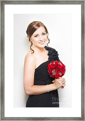 Sophisticated Bridesmaid Framed Print by Jorgo Photography - Wall Art Gallery