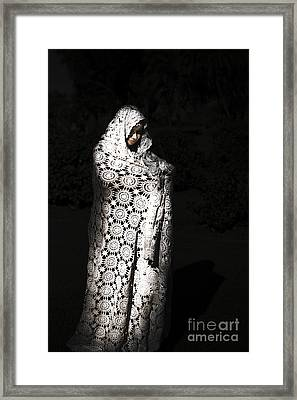 Sorceress Performing Black Magic Framed Print