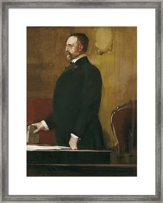 Sorolla, Joaqu�n 1863-1923. Portrait Framed Print by Everett