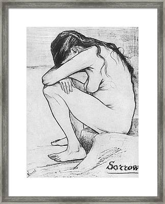 Sorrow  Framed Print by Vincent Van Gogh