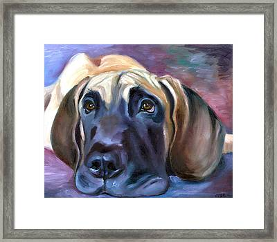 Soulful - Great Dane Framed Print by Lyn Cook