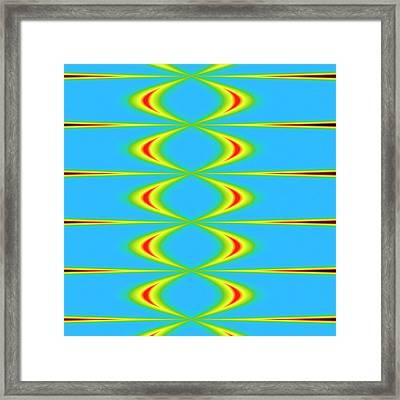 Sound Waves Framed Print