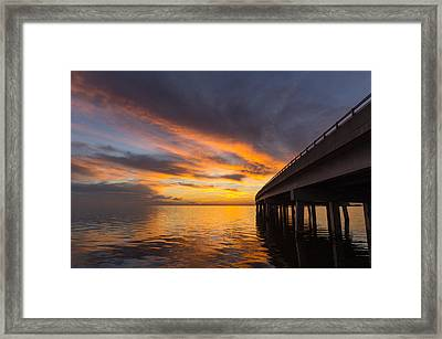 Framed Print featuring the photograph Soundside Sunset by Gregg Southard
