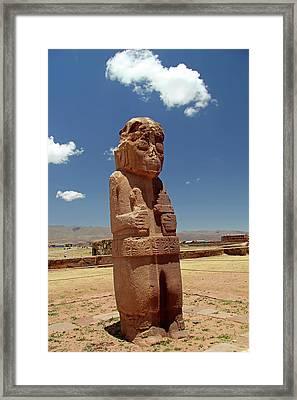South America, Bolivia, Tiwanaku Framed Print