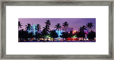 South Beach, Miami Beach, Florida, Usa Framed Print by Panoramic Images