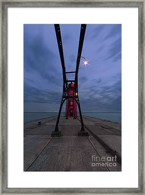 South Haven Lighthouse Framed Print by Twenty Two North Photography