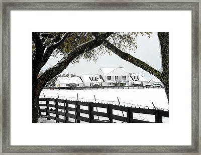 Southfork Ranch In Winter Framed Print