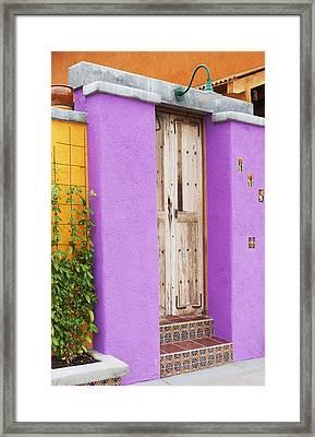 Southwest Doorway Framed Print by Elvira Butler