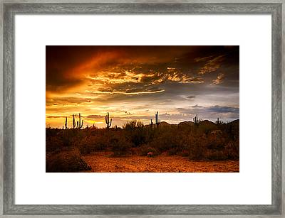 Southwestern Skies  Framed Print by Saija  Lehtonen