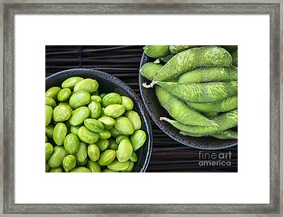 Soy Beans In Bowls Framed Print by Elena Elisseeva