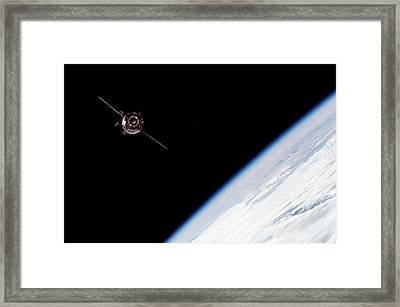 Soyuz Tma-3 Spacecraft Framed Print by Nasa