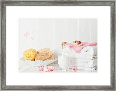 Spa Setting Framed Print by Amanda Elwell