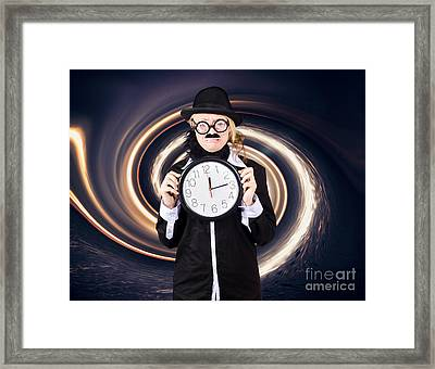 Space Astronomer Getting Sucked Into A Black Hole Framed Print by Jorgo Photography - Wall Art Gallery