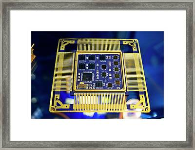 Space Chips Framed Print