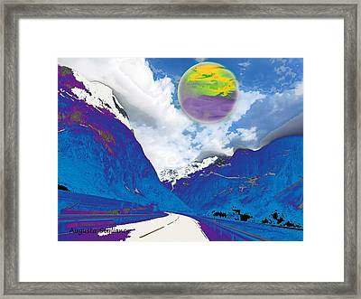 Space Landscape Framed Print by Augusta Stylianou