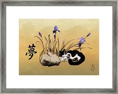 Spade's Dreaming Cat Framed Print by IM Spadecaller