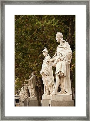 Spain, Madrid, Centro Area, Plaza De Framed Print by Walter Bibikow