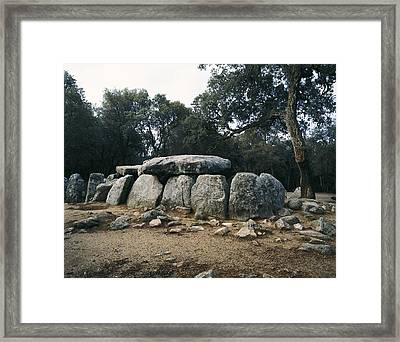 Spain. Romany� De La Selva. Daina Cave Framed Print