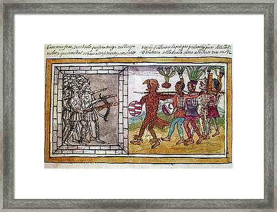 Spanish Conquest, 1520 Framed Print