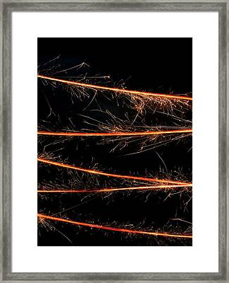 Sparkler Framed Print by Science Photo Library