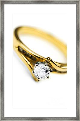 Sparkling Diamond Engagement Ring Framed Print by Jorgo Photography - Wall Art Gallery