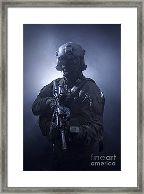 Special Operations Forces Soldier Framed Print